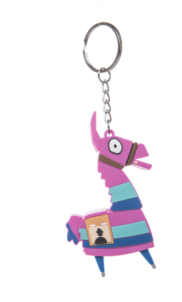 Fortnite Loot Llama Keychain Key Ring Decor