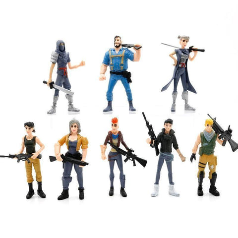 Fortnite Cake Toppers Kids Birthday Party Toys Cupcake Decoration