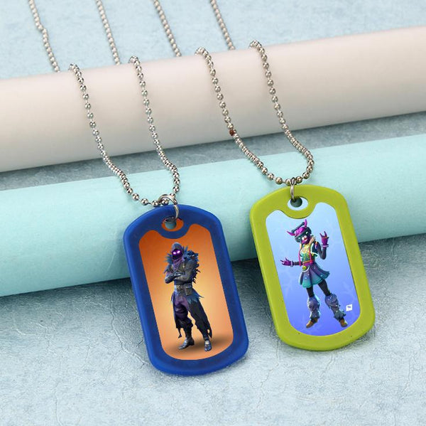 Fortnite Necklace Steel Ball Chain Party Favors 12pcs
