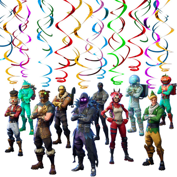 Fortnite Skins Swirls with Cutouts Party Decoration