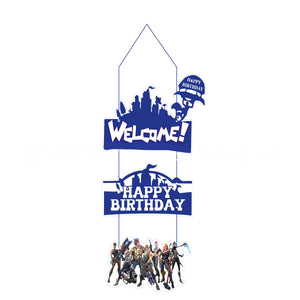 Fortnite Welcome Home Sign Party Supplies Front Door Decoration