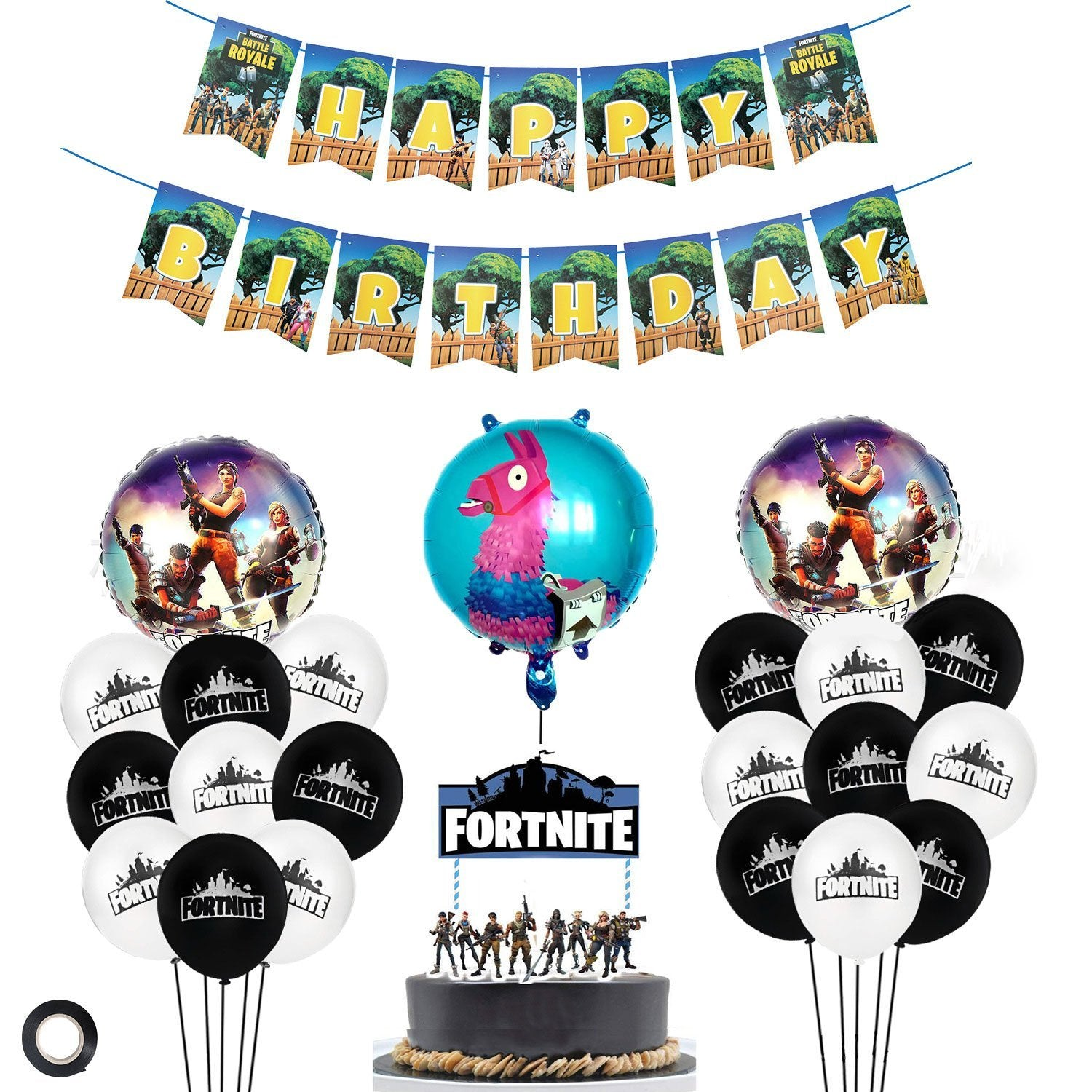 Fortnite Logo Balloons Party Kit Birthday Party Supplies