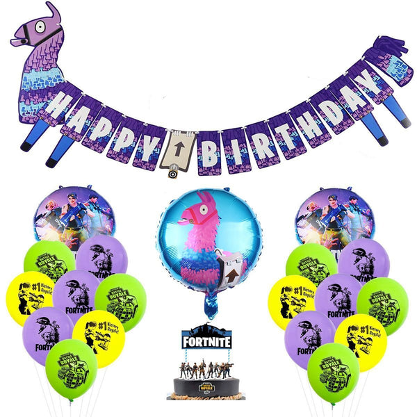 Fortnite Loot Llama Banner Balloons Party Kit Birthday Party Decoration