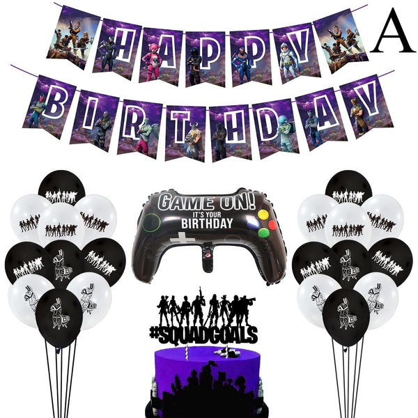 Fortnite Gamer Party Decorations Birthday Party Supplies