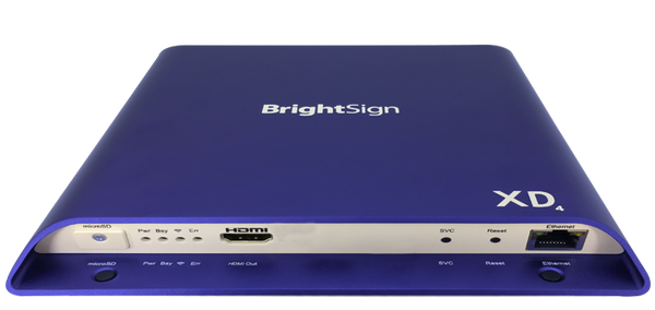 Brightsign H.265, True 4K, DolbyVIsion, HDR10+ support, dual video decode, advanced HTML5 player with standard I/O package