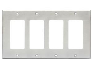 CP-4S Quadruple Cover Plate - stainless steel
