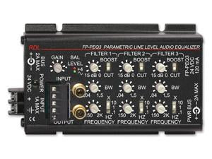 FP-PEQ3 3 Band Parametric Equalizer - Terminal blocks & RCA jacks