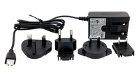 Brightsign Series 1 and Series 2 HD player replacement power supply, includes international adapters