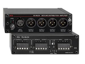 RU-MLD4 Microphone / Line Distribution Amplifier - 1x4