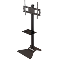 "Floor stand with metal shelf for 37"" to 63""+ screens + displays"