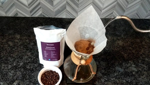 Pour over decaf coffee