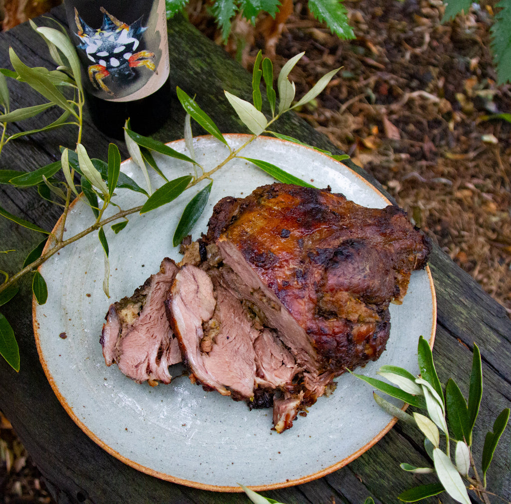 Slow Cooked Stuffed Ryeland Lamb Shoulder