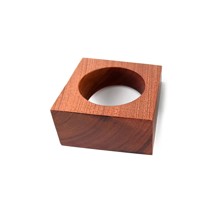 JUMBO WOOD BANGLE LIGHT BROWN
