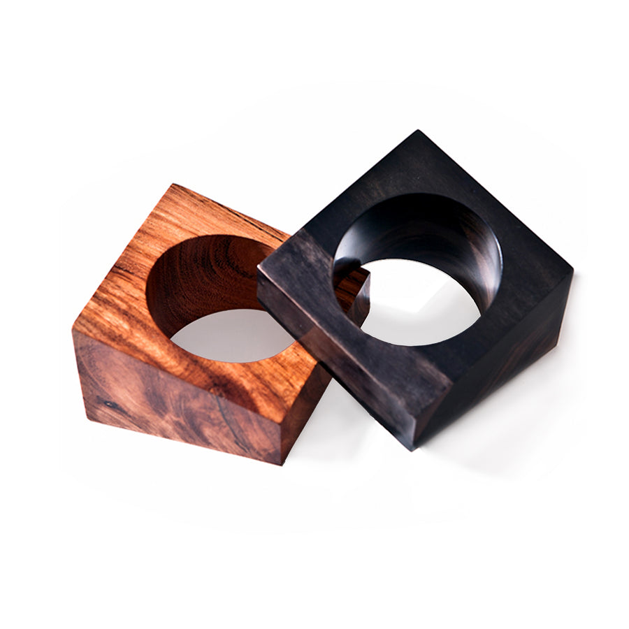 JUMBO WOOD BANGLE BROWN WOOD