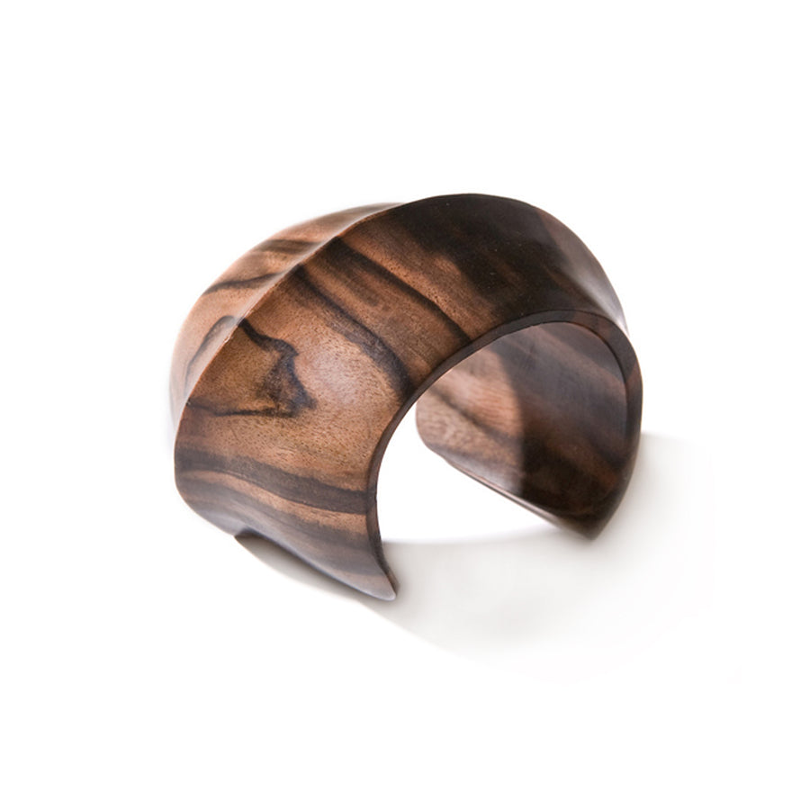 TALL STRETCH SLICE CUFF BROWN WOOD