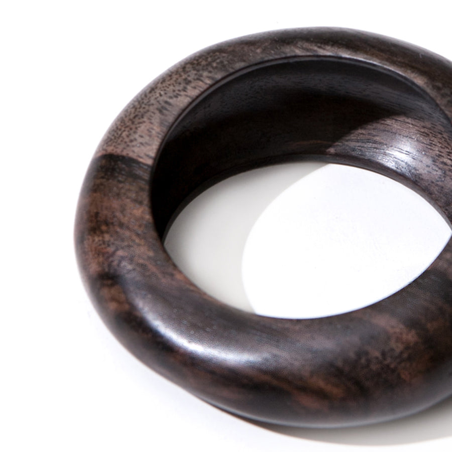 ROUND WOOD BANGLE BROWN WOOD