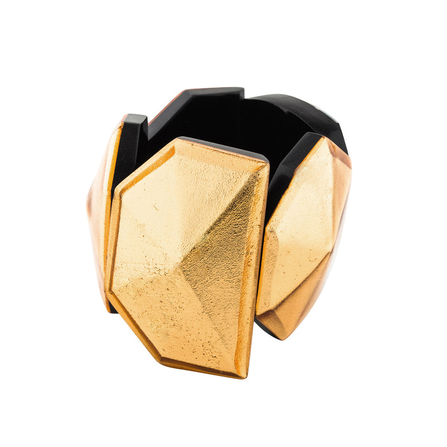 STARDUST FACETED CUFF GOLD FOIL