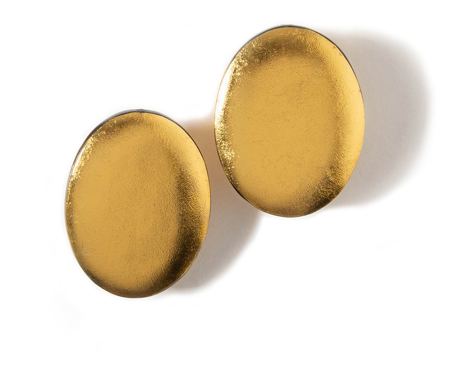 OVERSIZED OVAL STATEMENT EARRINGS