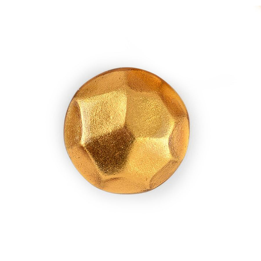 FACETED STUD EARRINGS GOLD FOIL/RESIN