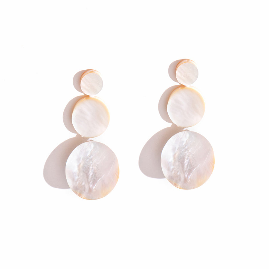 TRIPLE DROP MOTHER-OF-PEARL EARRINGS