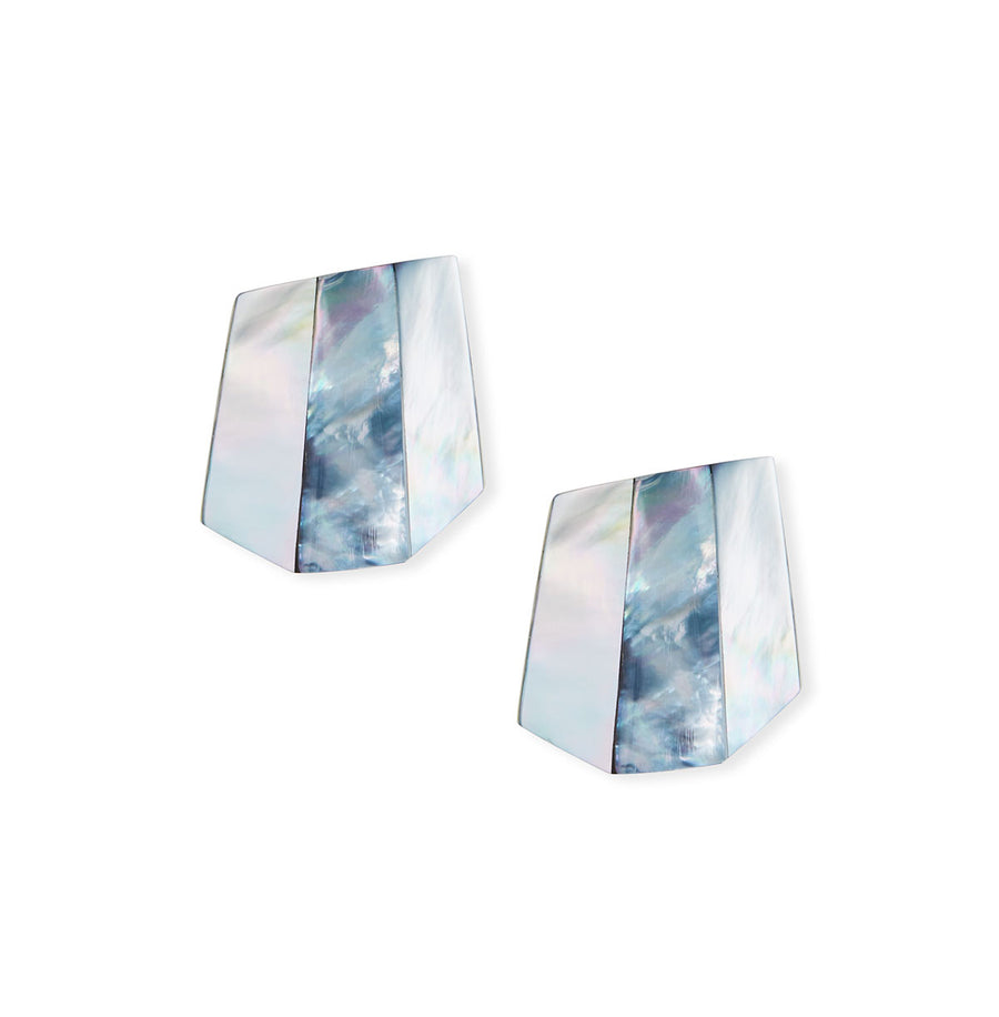 PYRAMID FACETED MOP EARRINGS