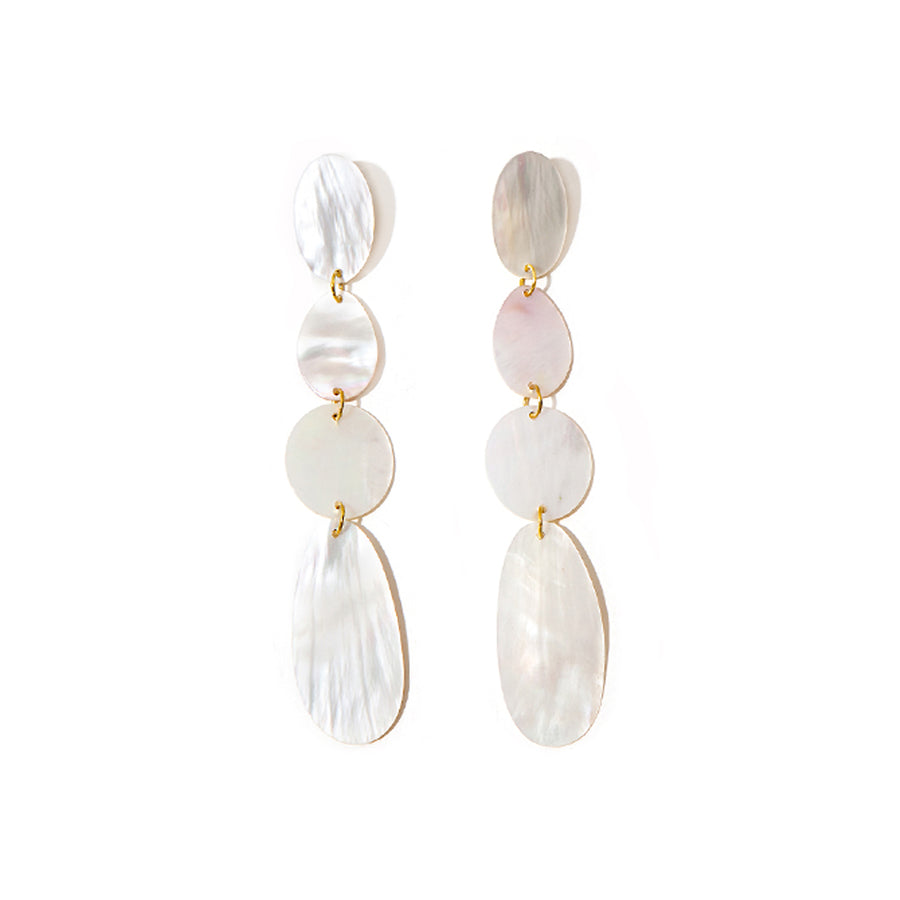 FOUR DROP MOTHER-OF-PEARL EARRINGS