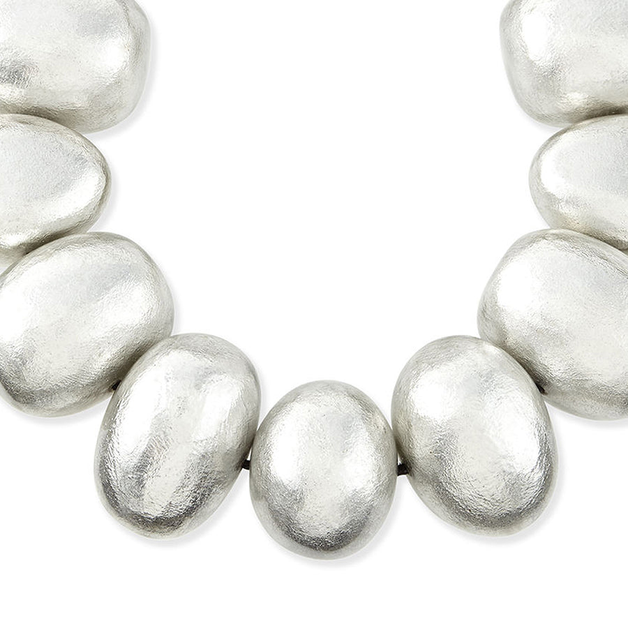 BAUBBLE NECKLACE SILVER FOIL