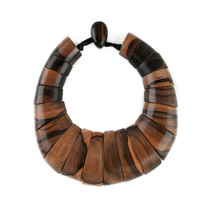 STATEMENT WOOD COLLAR BROWN WOOD