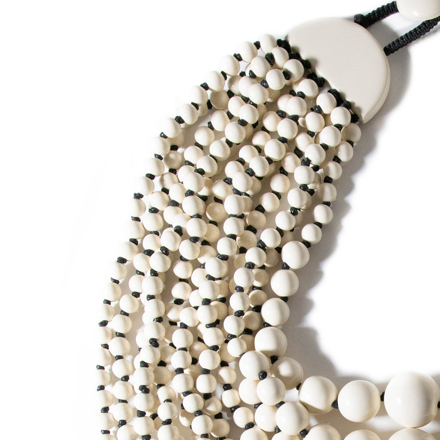 OVERSIZED RESIN BEADED STATEMENT NECKLACE
