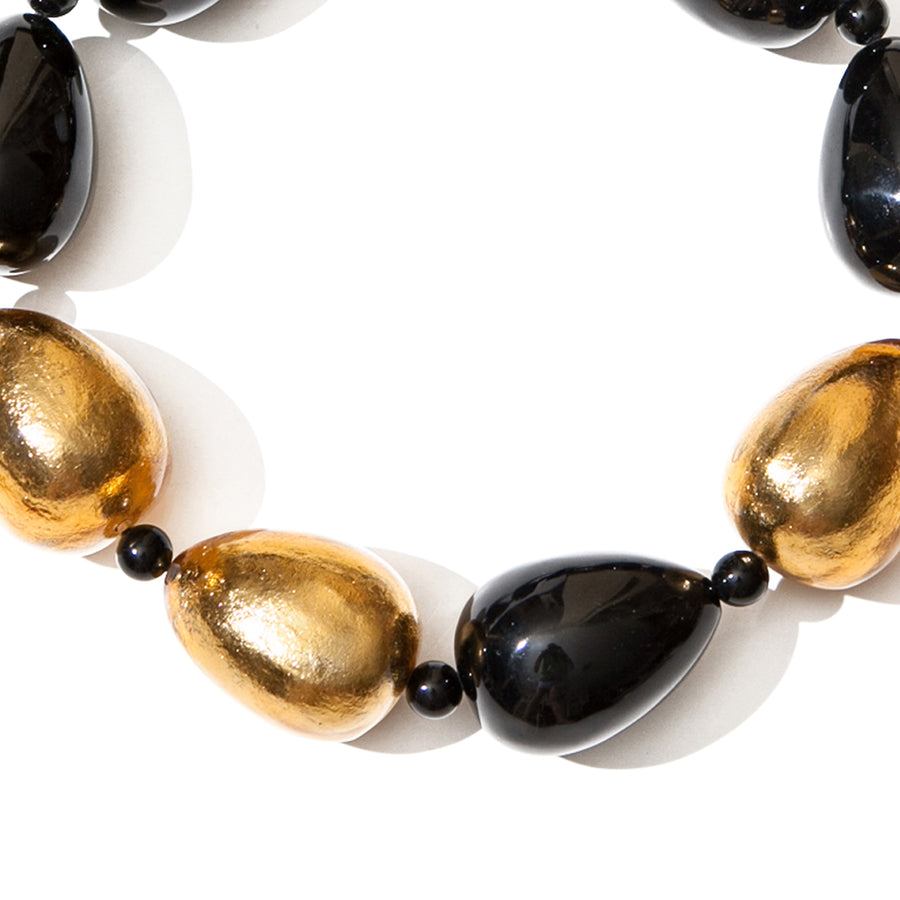 RESIN AND GOLD FOIL STRAZA NECKLACE