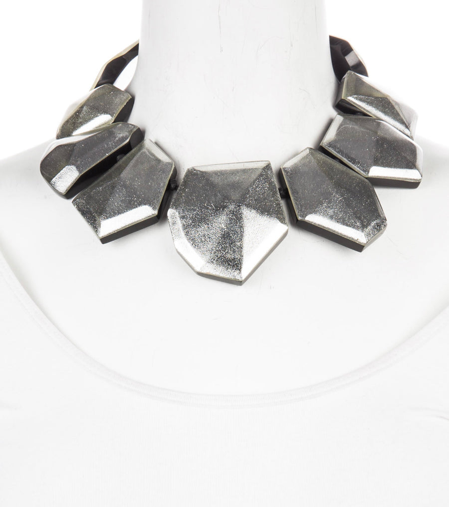 STARDUST SILVER FOIL NECKLACE