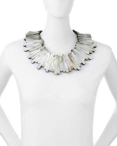 MOTHER OF PEARL STATEMENT NECKLACE