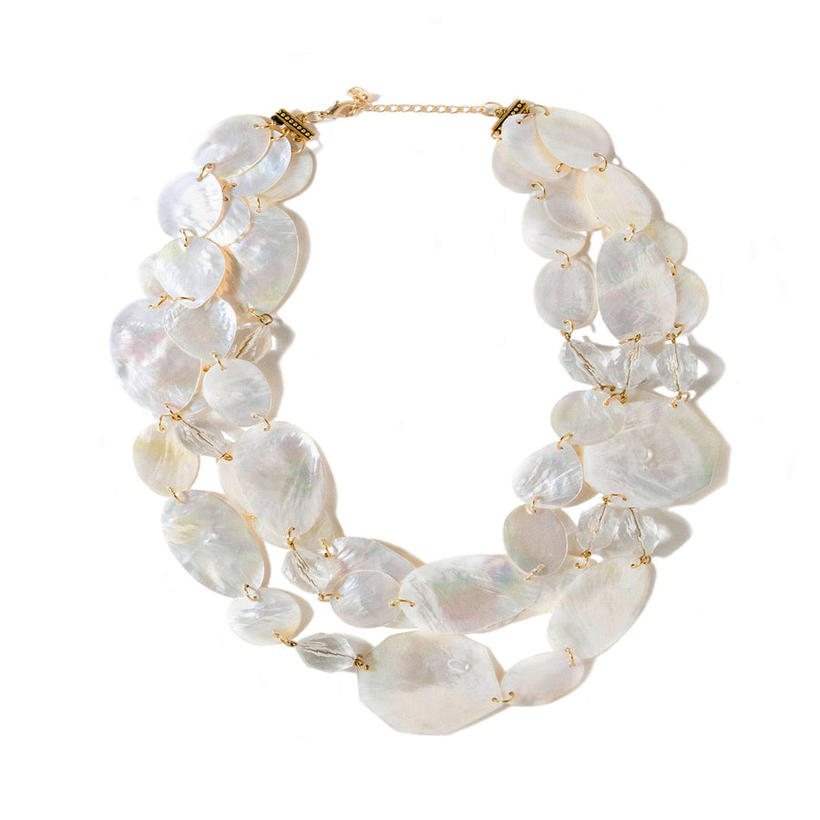 THREE STRAND MOTHER-OF-PEARL NECKLACE