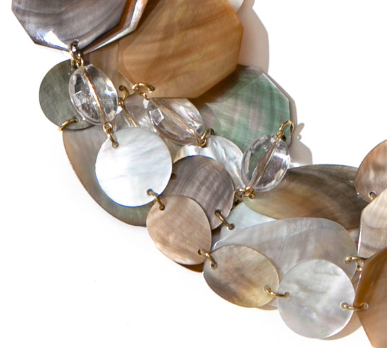 MULTISTRAND MOTHER-OF-PEARL NECKLACE. MULTI