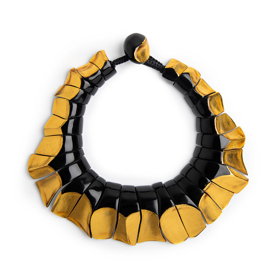 STATEMENT RIO NECKLACE BLACK/GOLD