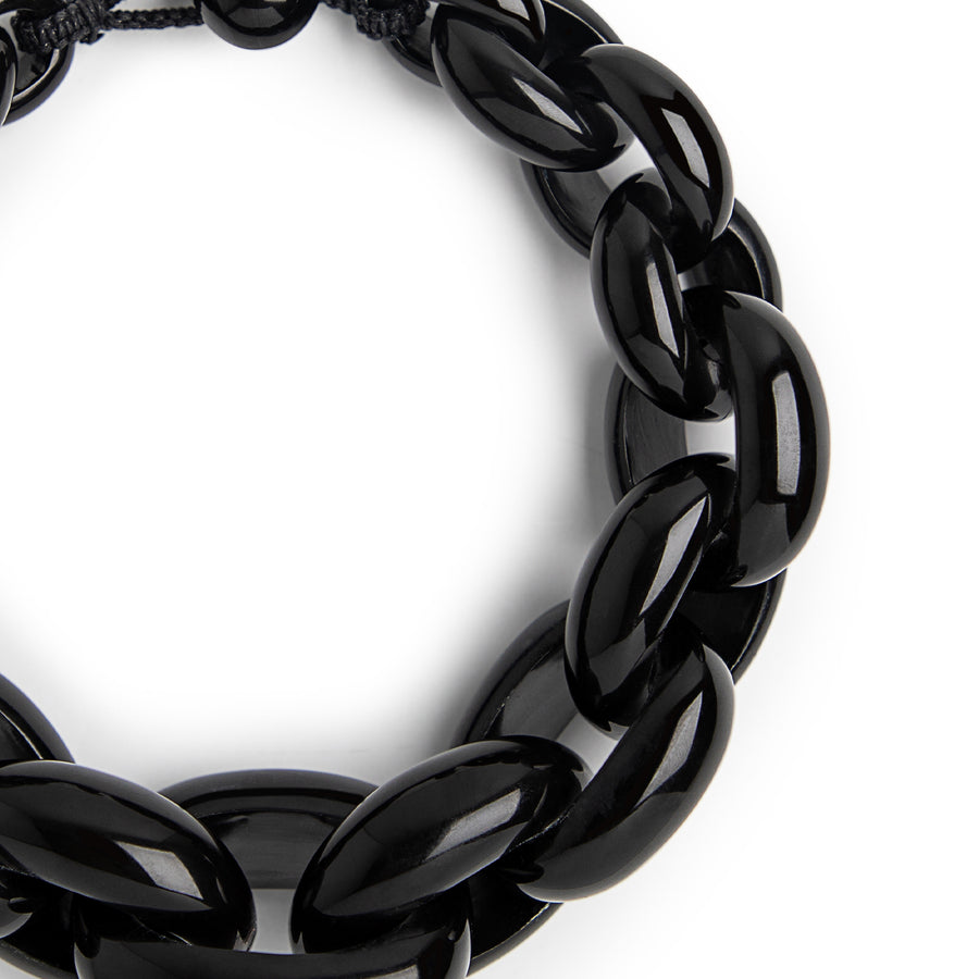 STATEMENT LINK NECKLACE BLACK
