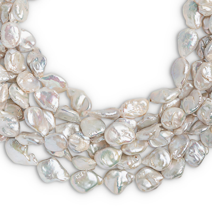 BAROQUE CULTURED PEARL AND MOTHER OF PEARL NECKLACE