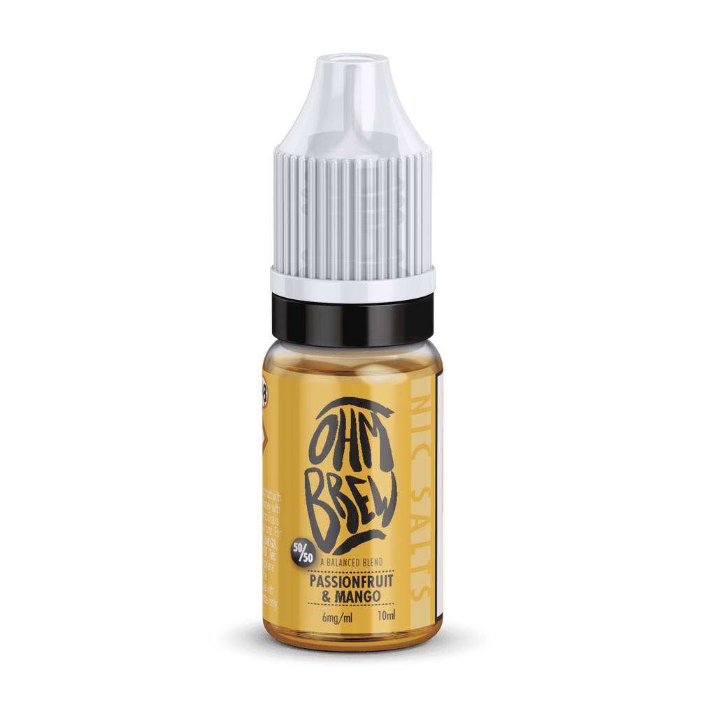 Passionfruit and Mango Nic Salt E-liquid by Ohm Brew