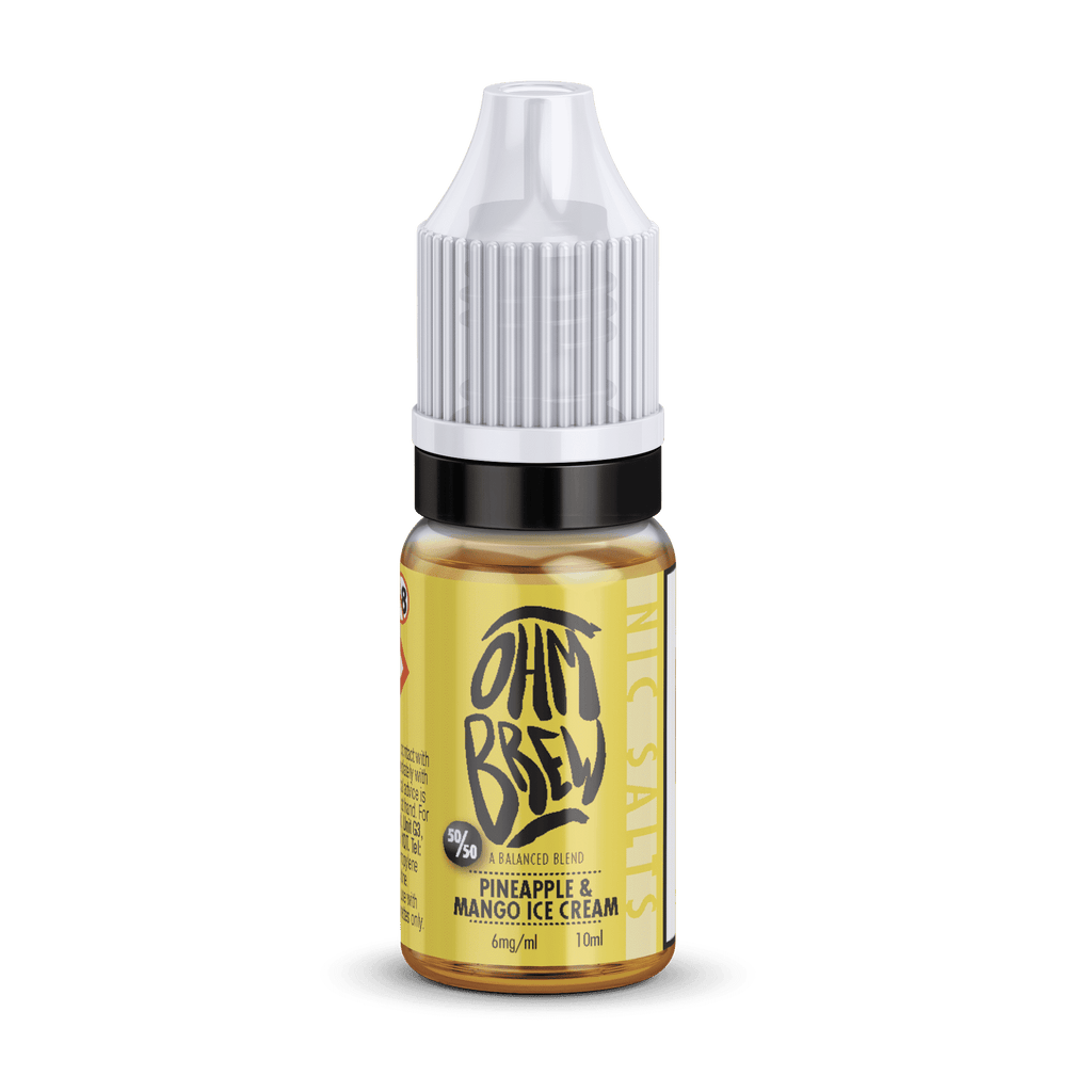 Pineapple and Mango Ice Cream Nic Salt E-liquid by Ohm Brew