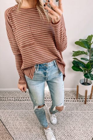 Brick Striped Tee