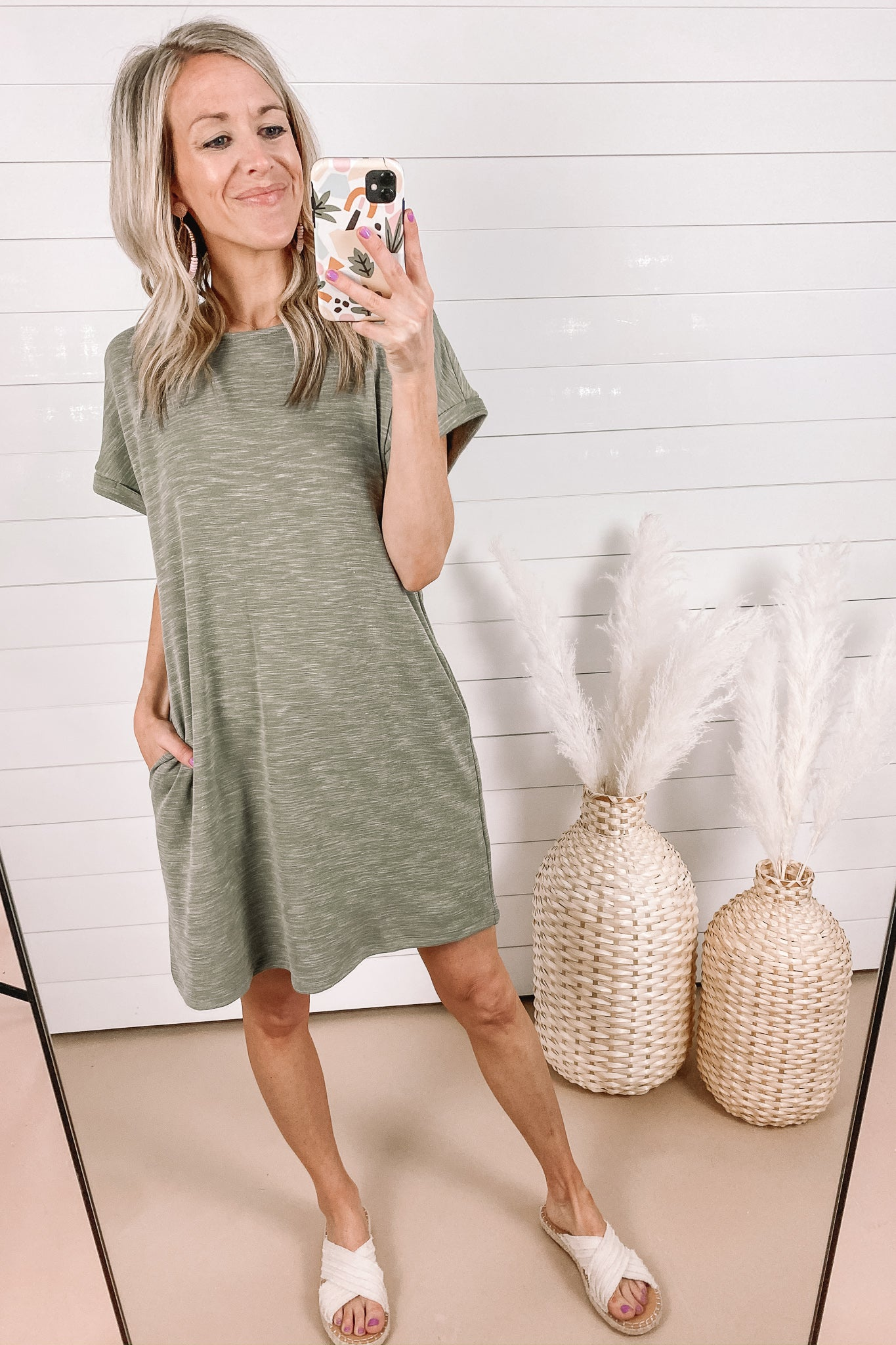 Olive T-Shirt Dress | Small- 3XL