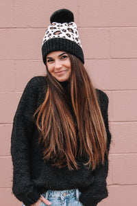 Fur Lined Leopard Beanie