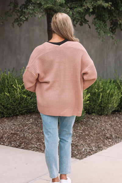 Dusty Rose Cardigan