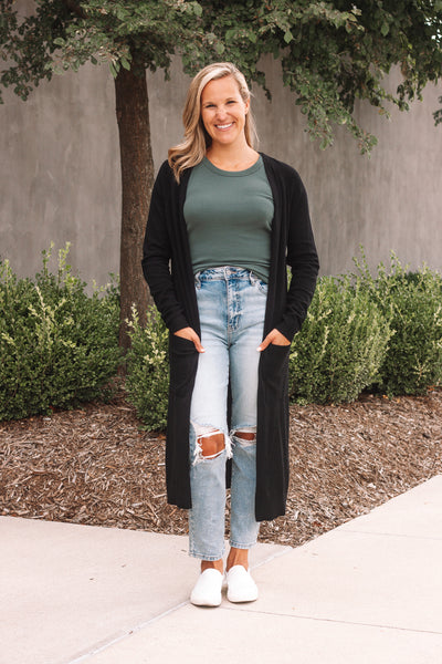 Duster Cardigan / Black