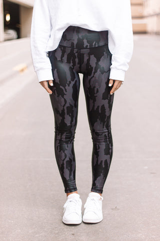 Black Camo Leggings // AUBREY COLLECTION