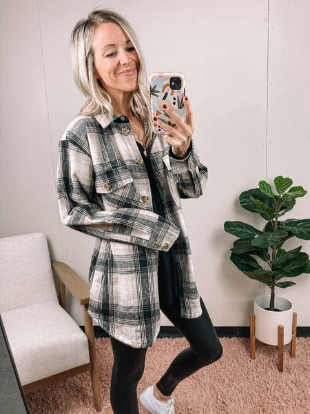 Plaid Shacket | Final Sale