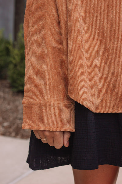 Brown Corduroy Button Up | Final Sale