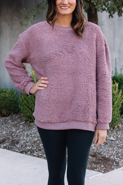 Teddy Bear Pullover | Plum