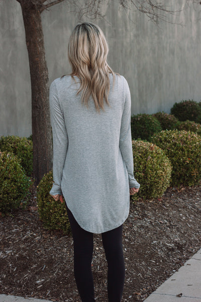 Essential Long Sleeve | Heather Grey