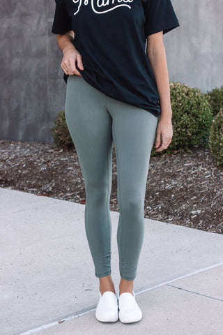 Softer Than Soft Leggings | Grey Sage